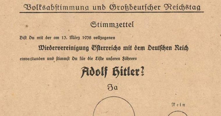 Volksabstimmung über die Wiedervereinigung Österreichs mit dem Deutschen Reich – Eine Dokumentation
