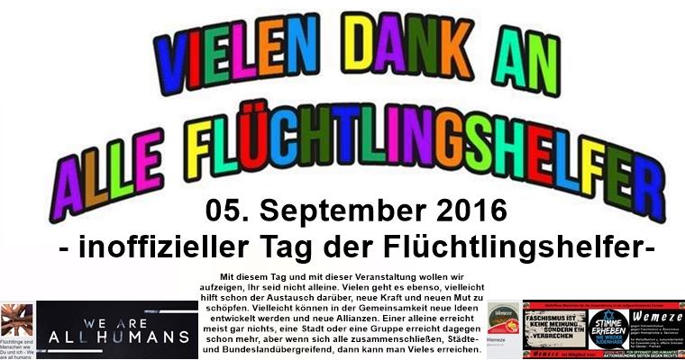 05. September – Tag der Flüchtlingshelfer – Veranstaltung